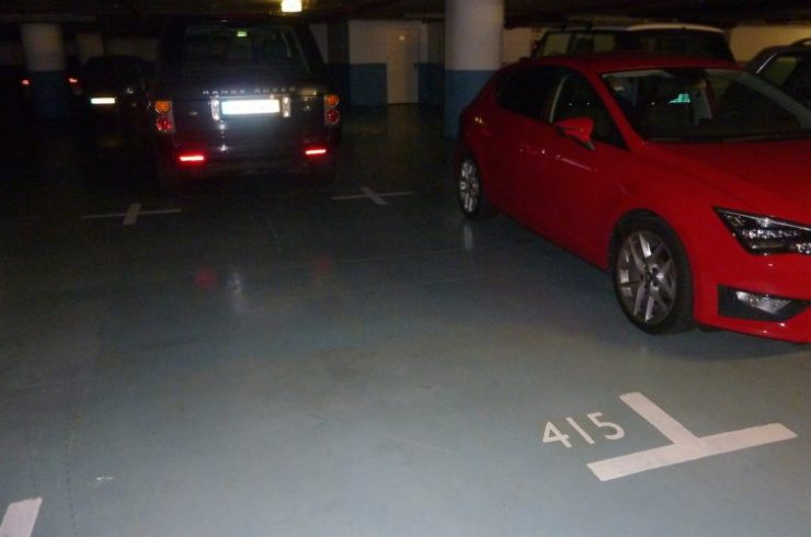 Car parking space beneath La Vie